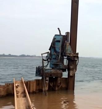 Sea current generator – Layout of steel sheet piles for generators